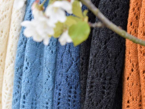 DutchMerino merinowollen omslagdoek in diverse kleuren